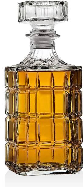 Shiv Kraft European Style Square Glass DIY Whiskey Decanter for Liquor Scotch Bourbon or Wine whiskey, wine Decanter