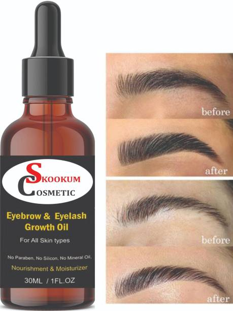 SKOOKUM Eyebrow & Eyelashes Growth Oil-Enriched with Natural 30 ml