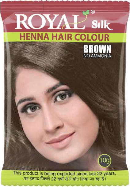 Royal Silk Henna Hair Color, Pack of 10 pcs. (10 X 10g Each) , Brown