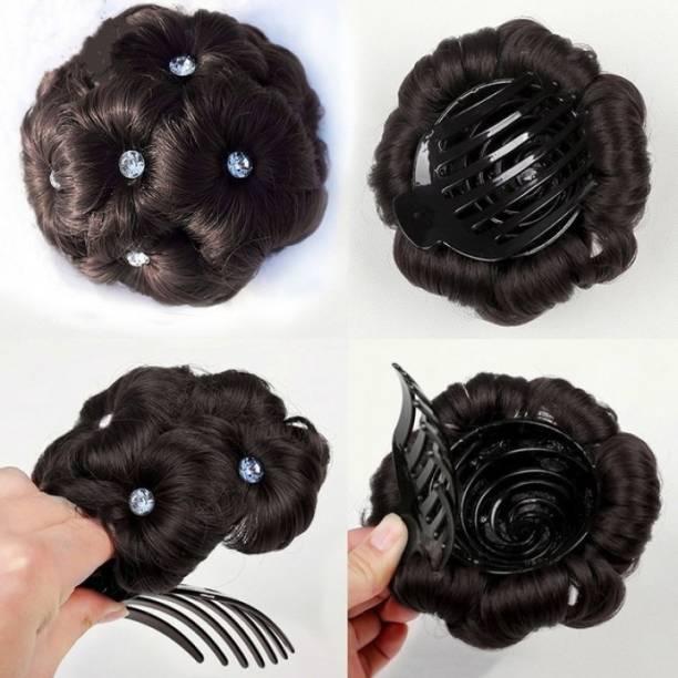 New Jaipur Handicraft Hukum Mere Aaka Moti Punjabi  Clutcher For Woman / Funky Clutcher Bun/ Clutcher Juda Black  Extension  Accessory Set / Moti  Juda / Moti Juda 01 Hair Extension