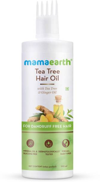 MamaEarth Tea Tree Hair Oil with Tea Tree & Ginger Oil for Dandruff Free Hair Hair Oil