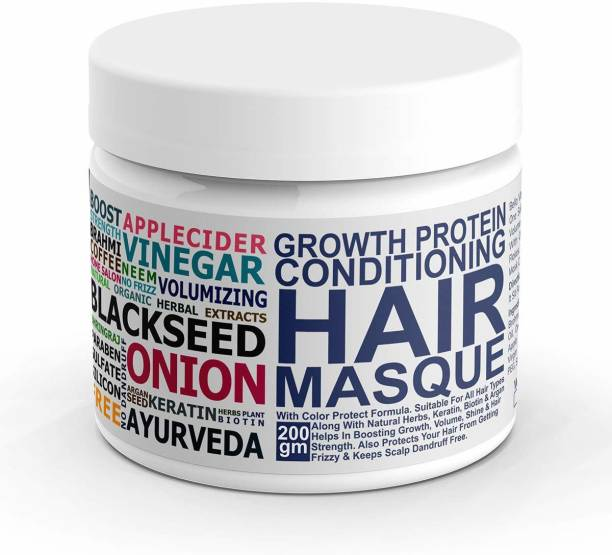 Bella vita organic Hair Mask For Hairfall Control, Volume, Frizzy Hair, Color Damaged Hair Repair & Growth With Keratin, Biotin, Argan, Onion, Tea Tree & Coffee