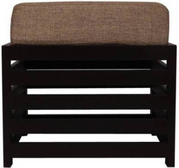 Ayan Traders Wooden Stool For living room with cushion Living & Bedroom Stool (Black) Living & Bedroom Stool