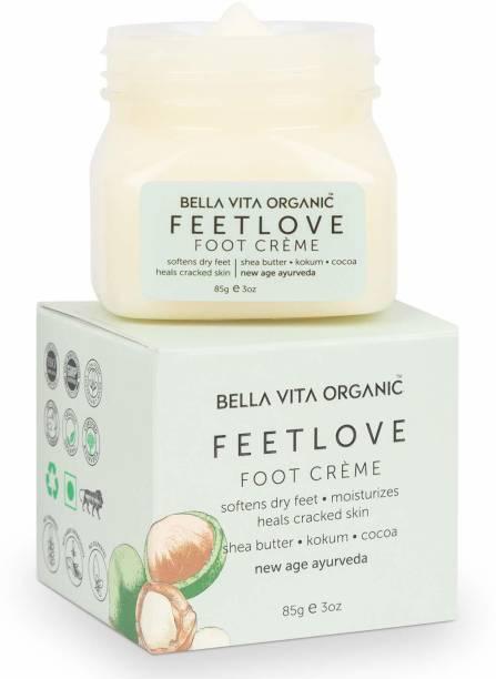 Bella vita organic Feet Love Foot Cream Softens Hydrates Dry Feet, Moisturizes & Repairs Cracked Heel & Skin, Combats Feet Odour, 85 g