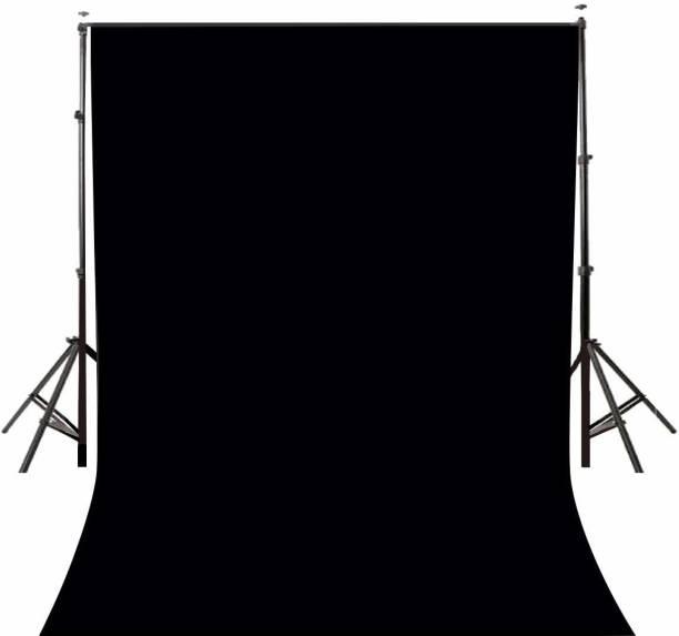 ALFASIYA Black Curtain for Photo Shoot Background, Backdrop, Screen For Photography, VFX Editing, YouTube (8X9 Feet) Reflector