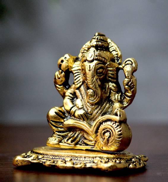 Craft Junction Handcrafted Ganesha Writing Book Decorative Showpiece  -  8 cm
