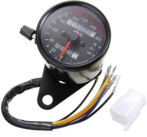 Olsic DUAL ODOMETER SPEEDOMETER GAUGE LED BACKGROUND LIGHTS Analog Speedometer Analog Speedometer
