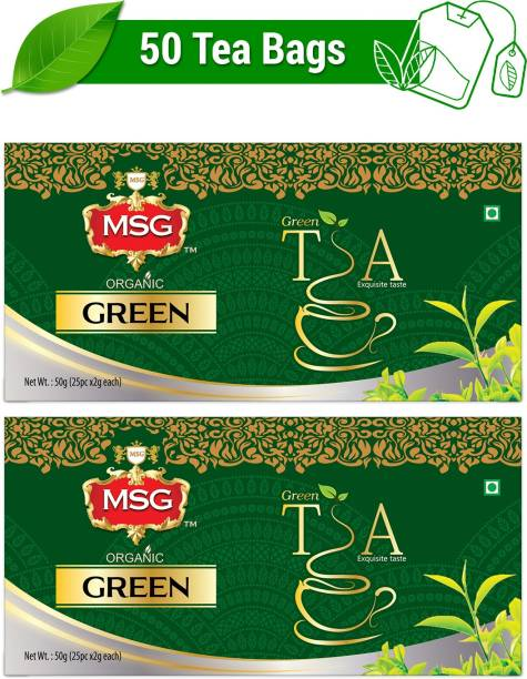 MSG Organic Green Tea Bags Box