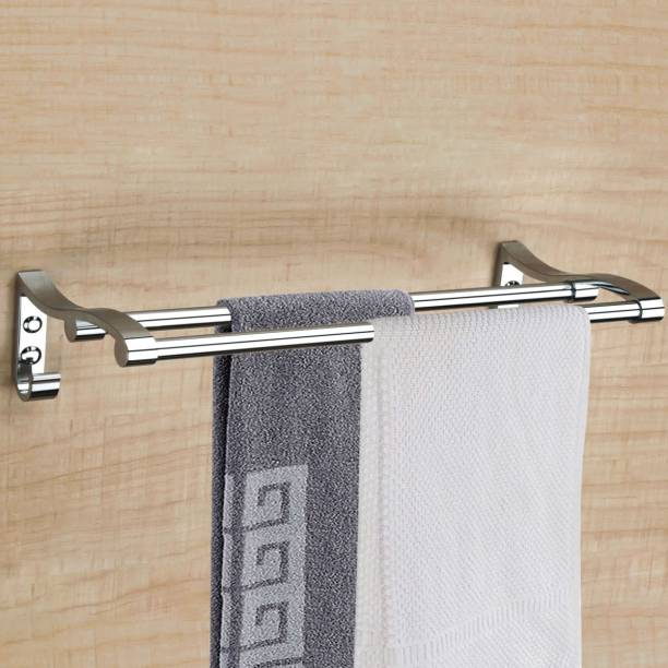 Plantex Stainless Steel Towel Hanger for Bathroom/Bar/Towel Rod/Stand/Bathroom Accessories(24 Inch) Chrome Finish Towel Holder