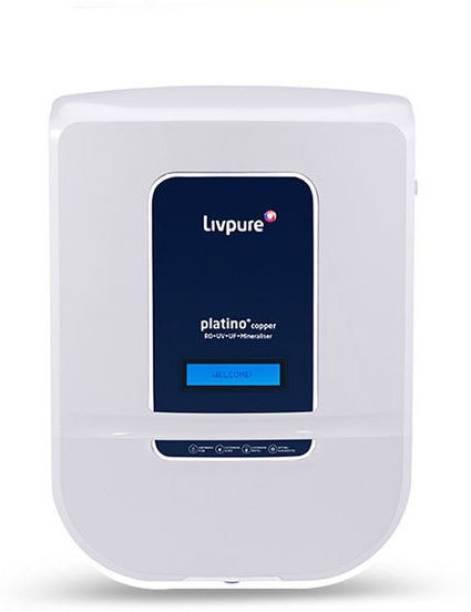 LIVPURE Platino copper 8.5 L RO + UV + UF + Minerals Water Purifier