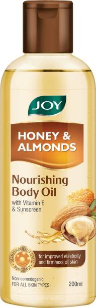 Joy Honey & Almonds Nourishing Body Oil, With Vitamin E & Sunscreen