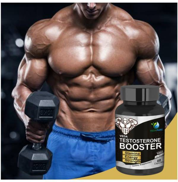 Vedapure Testosterone Booster- Tribulus Terrestris, Safed Musli, Kaunj, Ashwagandha, Javitri & Shilajit Extracts