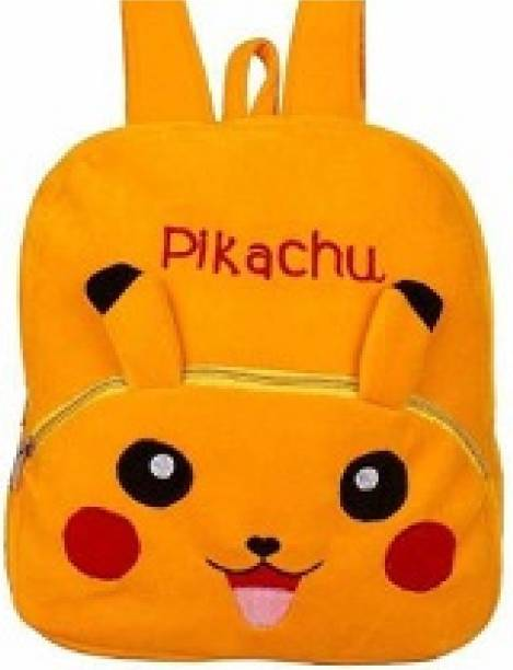 KAIN Pikachu Bag Cartoon Bag Toy Bag Kids School Bags Baby/Boys/Girls (2 To 5 Year/Yellow) Plush Bag