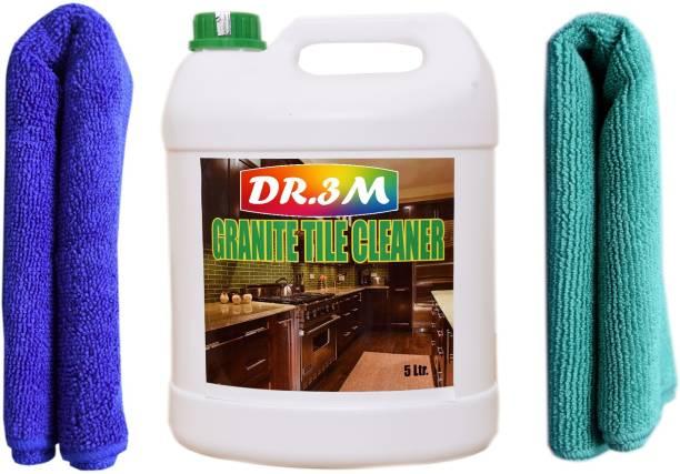 dr.3m GRANITE TILES CLEANER 5000ml. + 2PC MICROFIBER CLOTH ( BLUE+GREEN). Jasmine