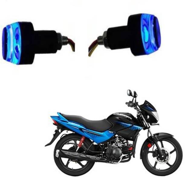 BRPEARl Bike Handle Bar LED Turn Signal Indicators Dual Color Bulb (Blue/White) For Hero Glamour Bike Handlebar Weights