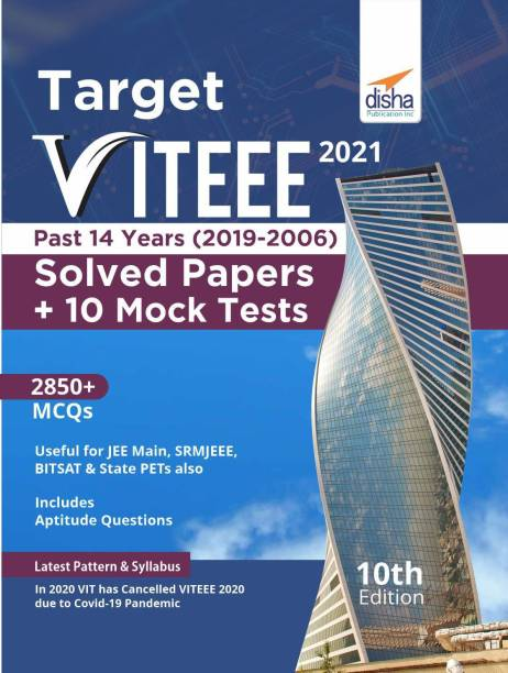 Target Viteee 2021 - Past 14 Years (2019 - 2006) Solved Papers + 10 Mock Tests
