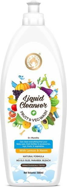 Mom & World Liquid Cleanser, Fruit And Veg Wash,500ml