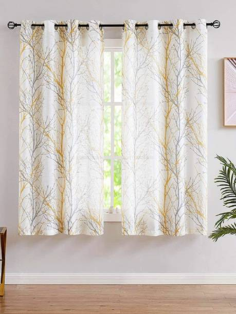 Urban Space 152 cm (5 ft) Cotton Window Curtain (Pack Of 2)