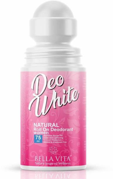 Bella vita organic Deo White Deodorant For Women Roll On Natural Under Arm Skin Whitening & Lightening For Girls, Ladies, 75 ml Deodorant Roll-on  -  For Women