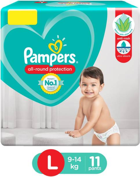 Pampers Pant Style Diapers Large Size - 11 Pieces - L