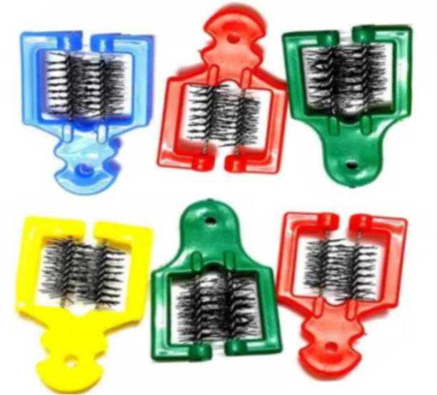 CRAZYGOL Multicolor Comb Cleaning Brush Set of 6