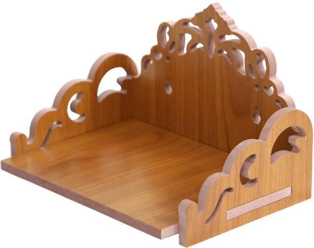 STASTORE Wooden Singhasan Temple for God, Laddu Gopal Sinhasan for Pooja Mandir, Singhasan for Diwali, Durga Pooja, Navratri, Ganesh Chaturthi Solid Wood Home Temple