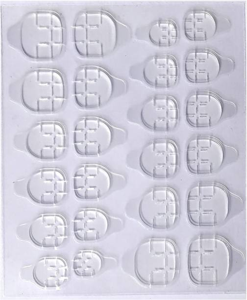 Zinzo Double-sided Nail tab Sticker(1x24pic),False Nail Glue Jelly Gel Tape Adhesive Tabs Nail Glue Transparent Flexible Adhesive Fake Nails Tips tab
