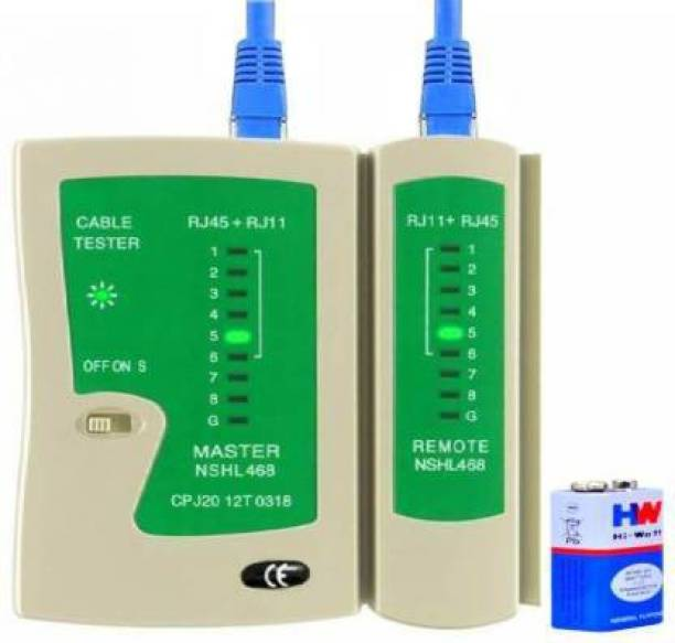 atekt RJ45 and RJ11 LAN network Ethernet Internet cable Tester Lan Adapter (100 Mbps) Network Interface Card