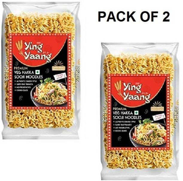 Ying Yang Premium Veg Hakka Sooji Noodles 1600 Gm (2 x 800 Gm) (Pack Of 2) Hakka Noodles Vegetarian