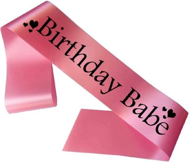 Style Mania birthday babe sash for girls