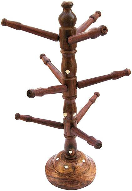 Artisan India Bangle Stand  Wooden Bangle Stand  Gift Item Decorative Showpiece  -  31 cm