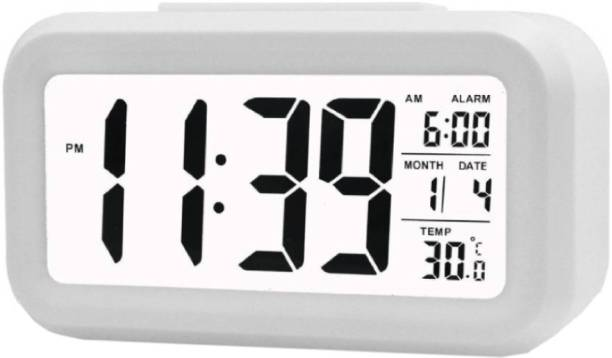 Adonai Digital White Clock