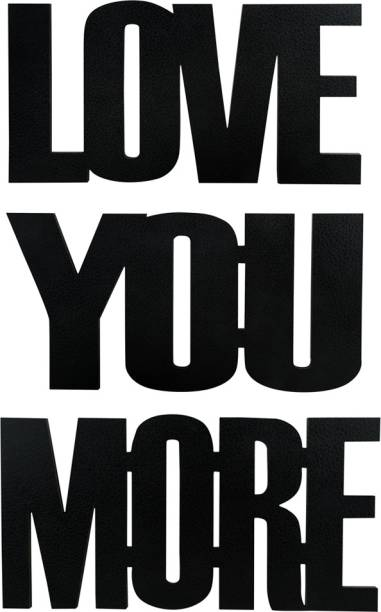 Sehaz Artworks Love You More Plaque Sign - Black Sign