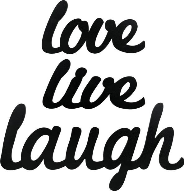 Sehaz Artworks Live Love Laugh Plaque Sign - Black Sign