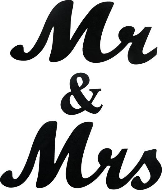 Sehaz Artworks Mr & Mrs Plaque Sign - Black Sign
