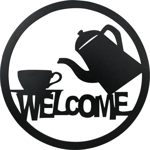 Sehaz Artworks Welcome Tea Plaque Sign - Black Sign