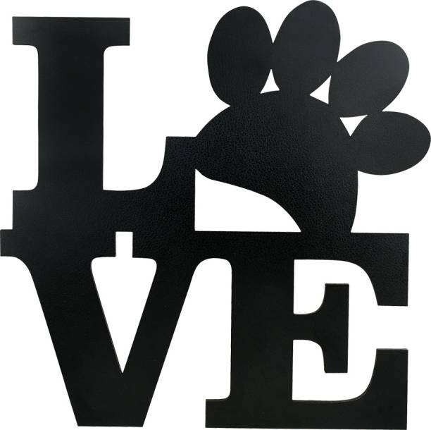 Sehaz Artworks Love Wall Decor Dog Lover Plaque Sign - Black Sign