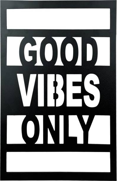 Sehaz Artworks Good Vibes Plaque Sign - Black Sign