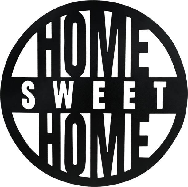 Sehaz Artworks Home Sweet Home Plaque Sign - Black Sign