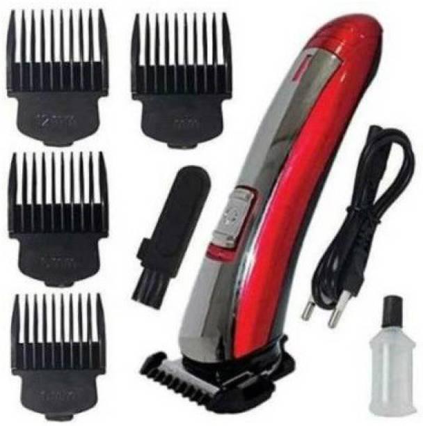MENSCHA MN-KM-KEMEI 7055 Red NKZHair Cutting Saving Classic Machine Beard Trimmer Runtime: 45 min KEMEI Trimmer for Men (Multicolor)  Runtime: 45 min Trimmer for Men & Women