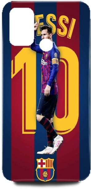 Rishabh Exports Back Cover for OPPO A53-CPH2127-lionel-messi-FCB-Back-Case-Printed