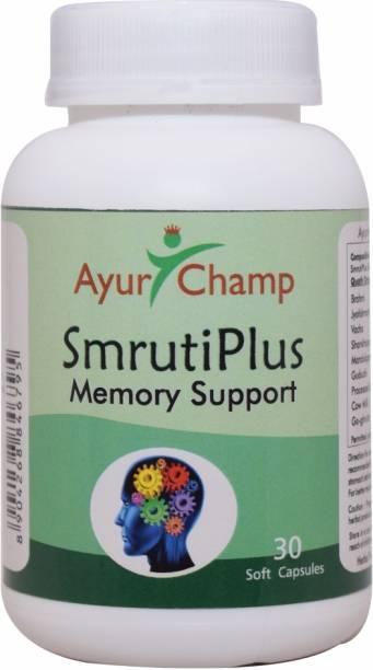 Ayur Champ SmrutiPlus Memory Support 30 Capsule - Pack of 4