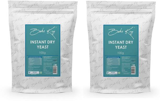 Bake King Combo Offer of Instant Active Dry Yeast Powder for Baking Bread kulchas, Naans and Ppizza Yeast Powder