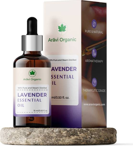 Aravi Organic Lavender Essential Oil | 100% Pure, Premium Quality, Undiluted, Therapeutic Grade Lavender Oil For Sleeping, Diffuser, Skin, Hairs, Soap Making, Relaxing Sleep & Aroma Diffuser.