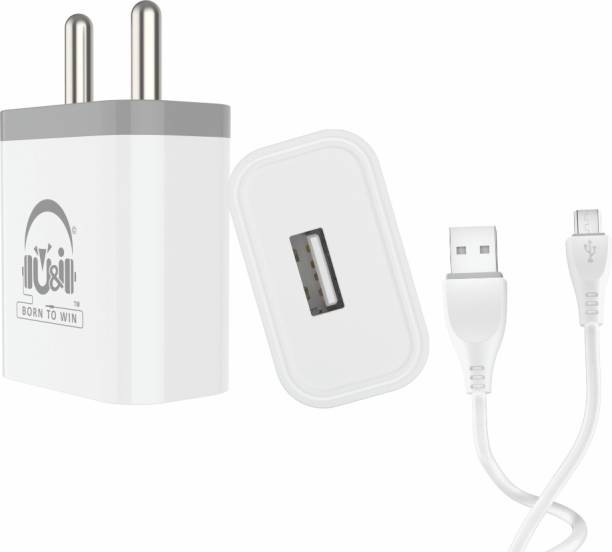 U&I Genius Series Charger Single USB Port with Micro USB Data Cable 1.2A Output UiCH 3969 1.2 A Mobile Charger with Detachable Cable