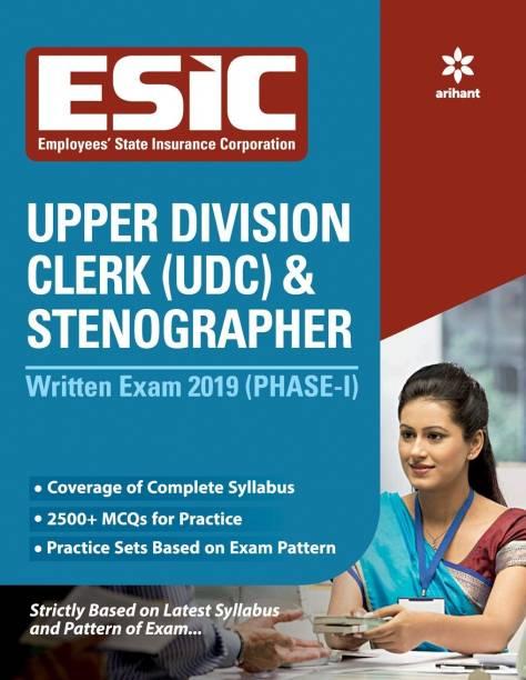 Esic Upper Division Clerk and Stenographer Written Exam 2019 Phase-1