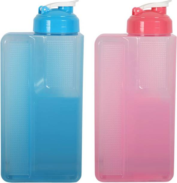 Muchmore Combo of 2 Big Size Water Bottles 2.6 Liters for Fridge Use 2600 ml Bottle