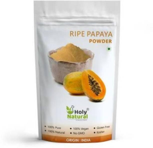 Holy Natural Ripe Papaya Fruit Powder (Spray Dried Powder) Taste Like Natural - 100 GM (100 g)