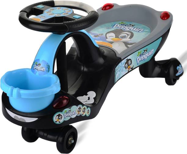 ToyDor FUNNY PENGUIN Swing Magic Car For Kids Toys For Kids Girls Boys Ride on Drive / Swing Car / Baby Panda Magic Car/Tricycle Cycle Age From 2 To & Years Weight capacity 75 Kg Car Scooter Non Battery Operated Ride On (Black, White) Car Non Battery Operated Ride On