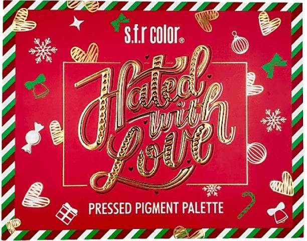 s.f.r color Red Edition Hated With Love Pressed Pigment 63 Colors Palette ( Glitter,Shimmer,Matte) 69.5 g